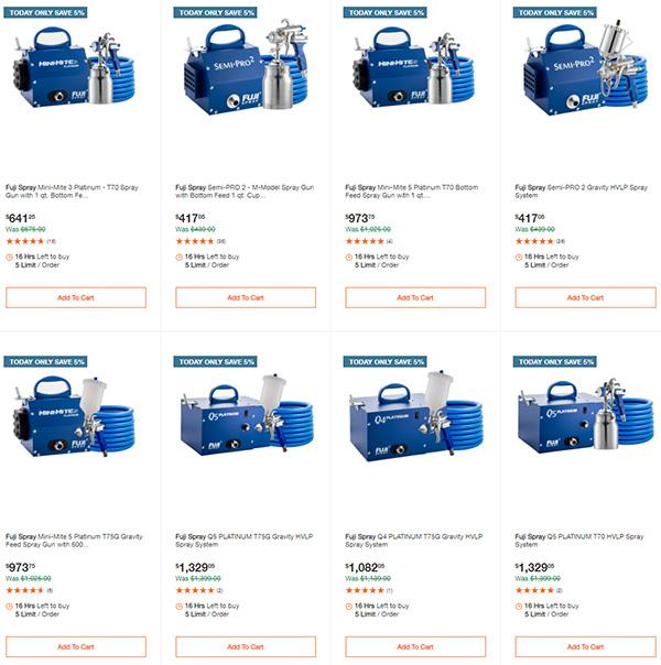 Fuji Paint Finish Sprayer Deals Home Depot 11-29-2020