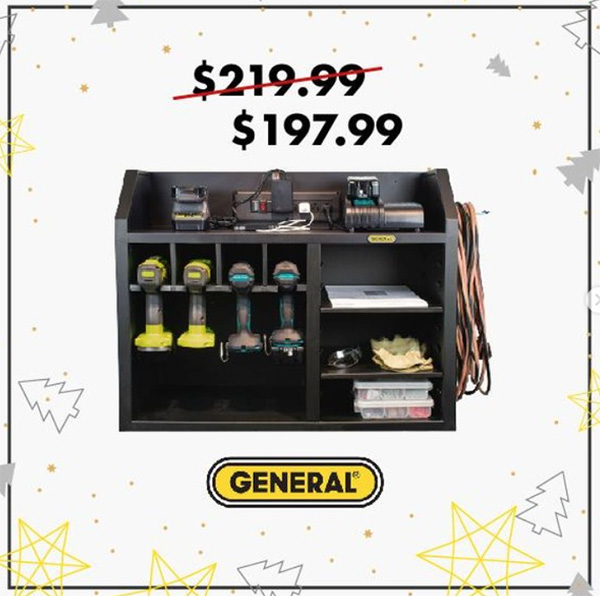 General Tools Wall Power Tool Cabinet Sale Black Friday 2020