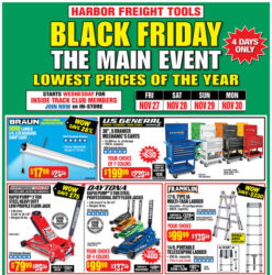 Harbor Freight Black Friday 2020 Tool Deals Hero