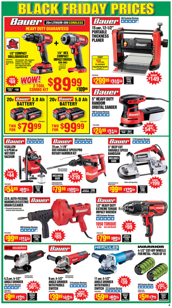 Harbor Freight Black Friday 2020 Tool Deals Page 8