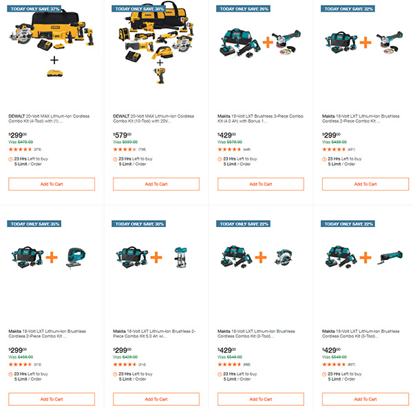 Home Depot Cyber Monday Dewalt Milwaukee Makita Tool Deals of the Day Page 2