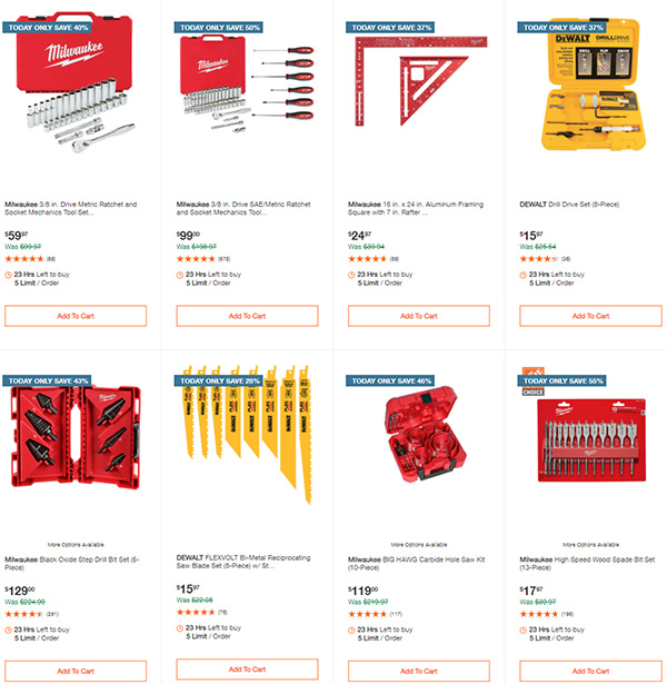 Home Depot Cyber Monday Dewalt Milwaukee Makita Tool Deals of the Day Page 8