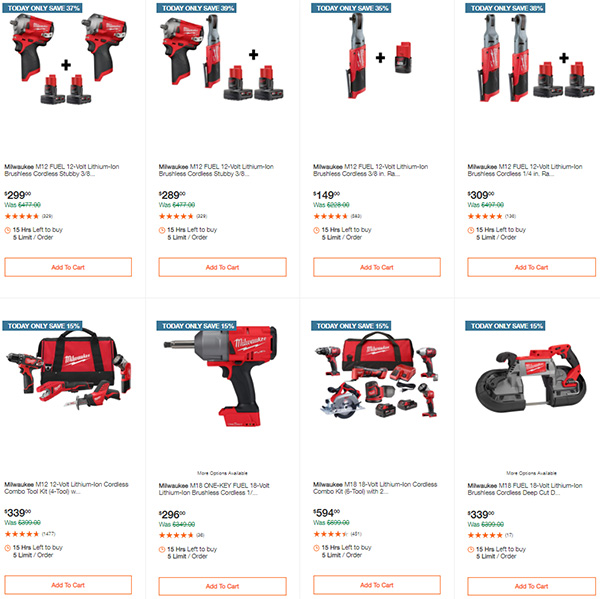Home Depot Milwaukee Tool Deals of the Day 11-11-2020 Page 2