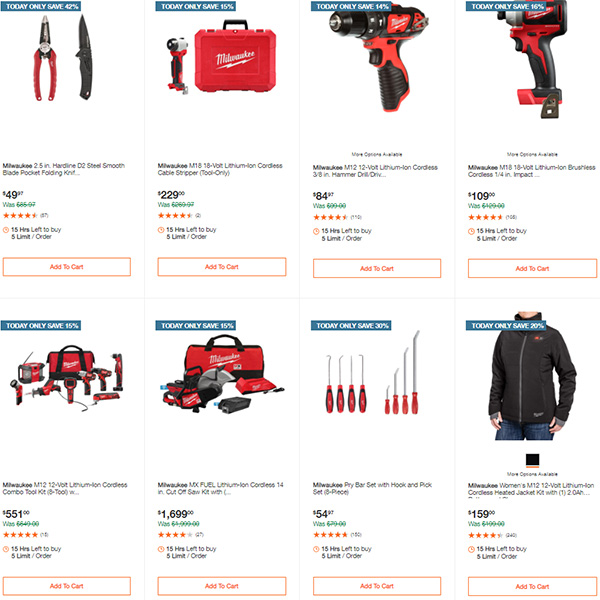 Home Depot Milwaukee Tool Deals of the Day 11-11-2020 Page 4