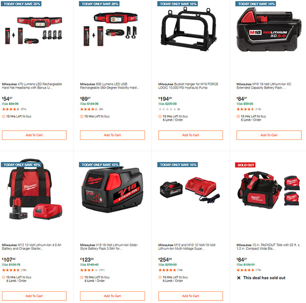 Home Depot Milwaukee Tool Deals of the Day 11-11-2020 Page 6