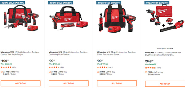 Home Depot Milwaukee Tool Deals of the Day 11-26-2020 Page 1