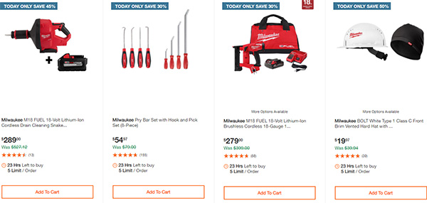 Home Depot Milwaukee Tool Deals of the Day 11-26-2020 Page 5