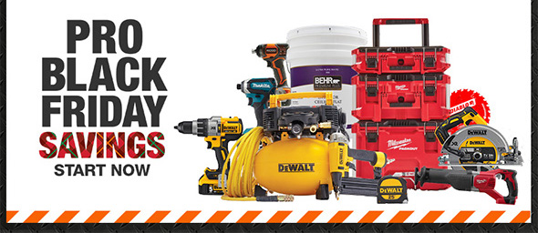 Home Depot Pro Black Friday 2020 Tool Deals