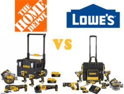 Home Depot vs Lowes Dewalt Cordless Power Tool Combo Kit