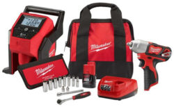 Hot DEAL Milwaukee M12 Impact Wrench with Cordless Inflator and Socket Set