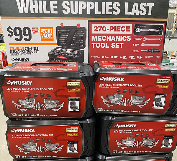 Husky 270pc Mechanics Tool Set Home Depot Black Friday 2020 Deal