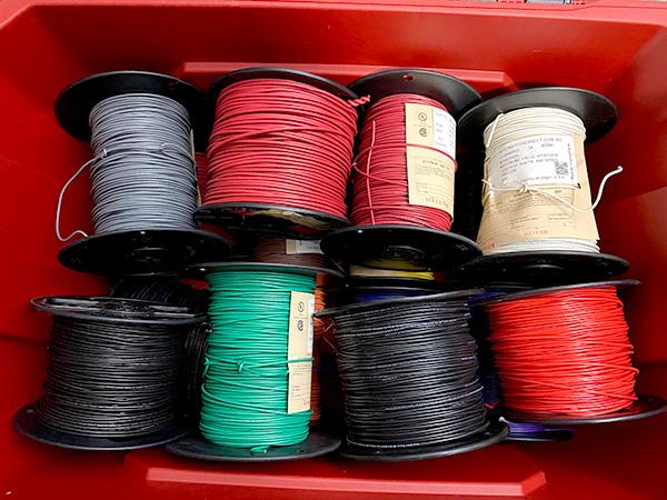 Husky Professional Storage Bin with Electrical Wire