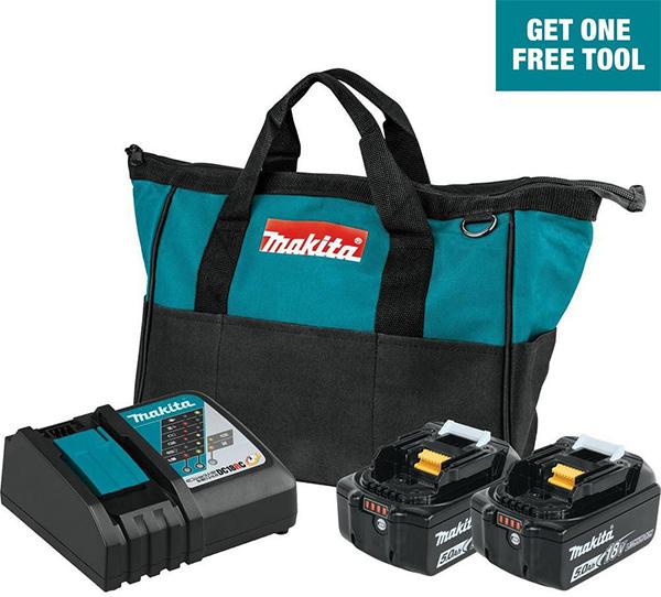 Makita 18V Cordless Power Tool Starter Kit Home Depot Free Bonus 2020