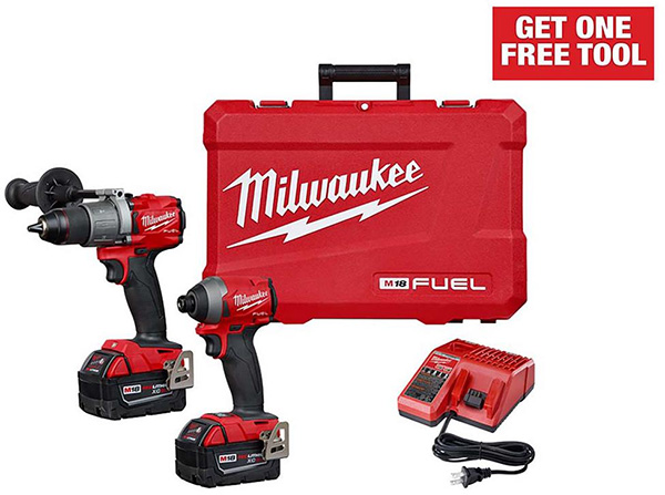 Milwaukee M18 Fuel Cordless Power Tool Combo Kit Home Depot Free Bonus 2020