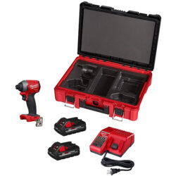Milwaukee M18 Fuel Impact Driver Kit and Packout Tool Box 2853-22PO with Foam Liner