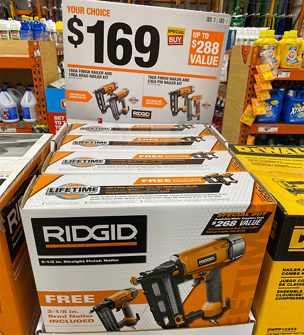 Ridgid Air Nailer Bonus Home Depot Black Friday 2020 Tool Deal
