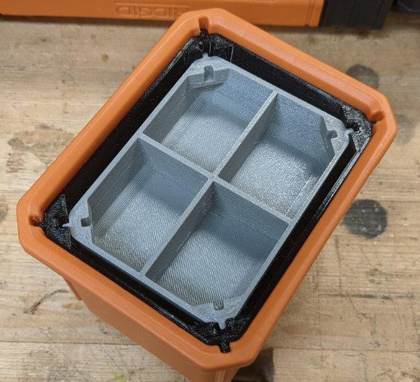 Ridgid Pro Gear Organizer Double Nesting Cups Remix