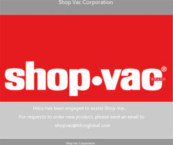 Shop-Vac Closure 2020