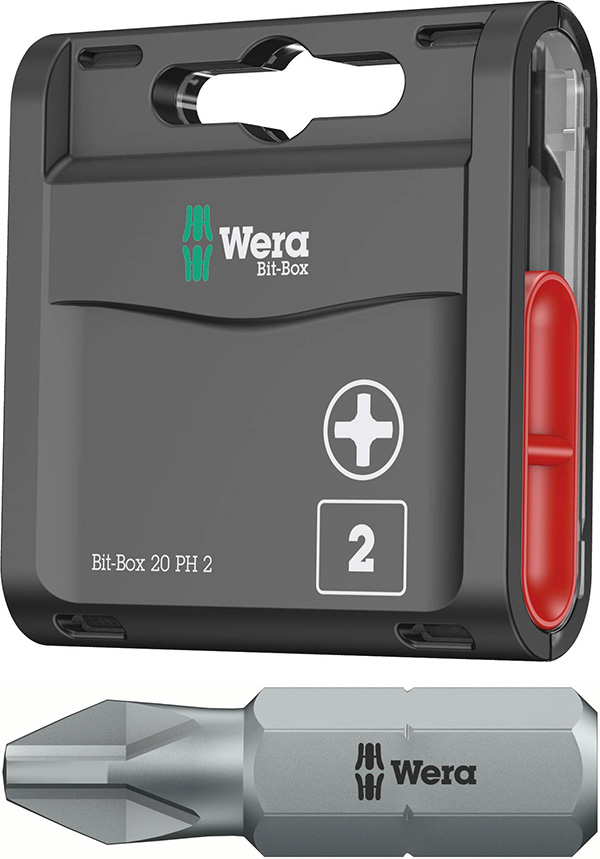 Wera Bit Box with Phillips Screwdriver Bits