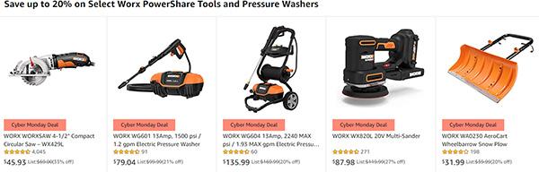 Worx Tool Deals at Amazon Cyber Sunday 11-29-2020