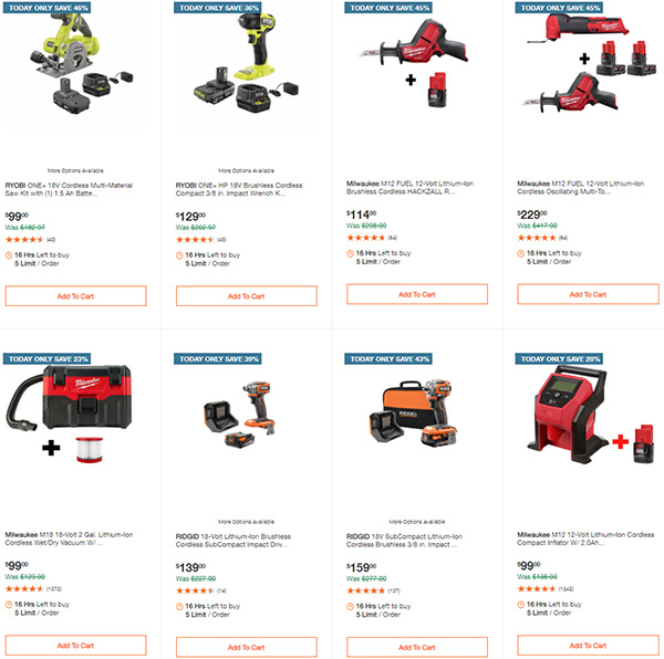Home Depot Tool Deals of the Day 12-28-20 Page 4