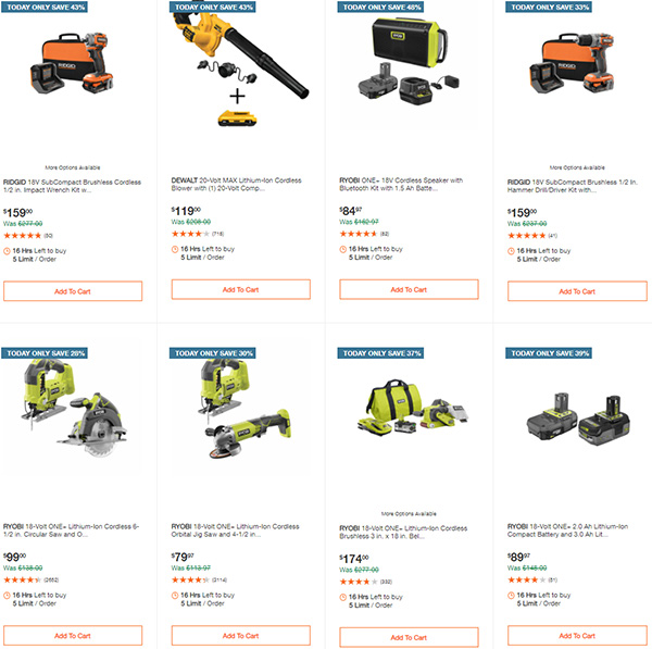 Home Depot Tool Deals of the Day 12-28-20 Page 5