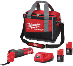 Milwaukee 2526-2411 M12 FUEL Oscillating Multi-Tool Kit and Packout Tool Bag Bundle
