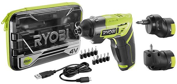 Ryobi 4V Modular Head Cordless Screwdriver Set