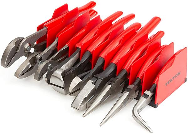 Tekton Pliers Organizer with Tools