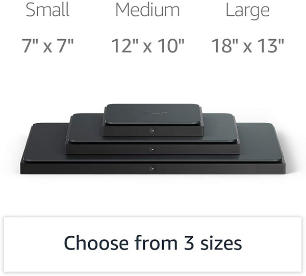Amazon Dash Smart Scale Sizes