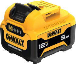 Dewalt DCB126 12V Max 5Ah Cordless Power Tool Battery Angled