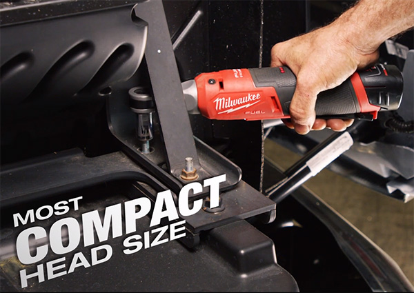Milwaukee M12 Fuel High Speed Ratchet Most Compact Head Size