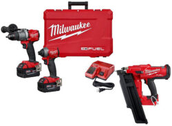 Milwaukee M18 FUEL Hammer Drill and Impact Driver Combo Kit with Framing Nailer