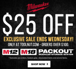Milwaukee Tool Flash Sale 1-19-2021 Hero