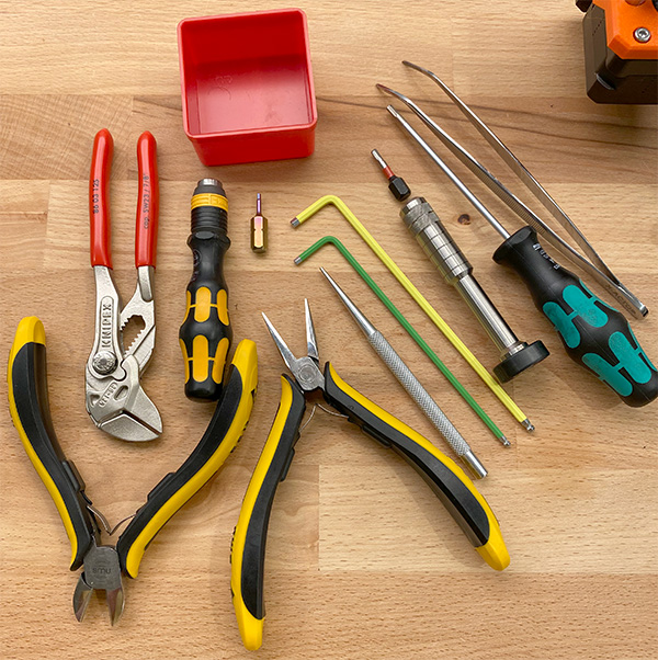 These are the Hand Tools I'm Using to Assemble a Prusa 3D Printer
